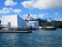 Pearl Harbor Memorial excursion on the island of Oahu. A must for everyone to see. Book your excursion early as they do sell out.