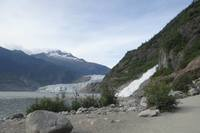 Nugget Falls and Mendenhall Glacier near Juneau