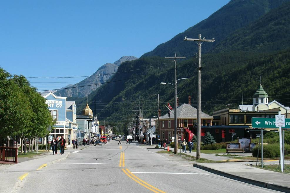 Main Street Skagway from the south