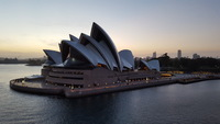 Sydney Opera House at dawn.