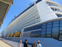 Photo of the Ovation of The Seas at the port of Fremantle. It