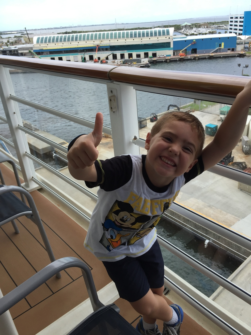 Arrival on Disney Magic for surprise birthday  first cruise