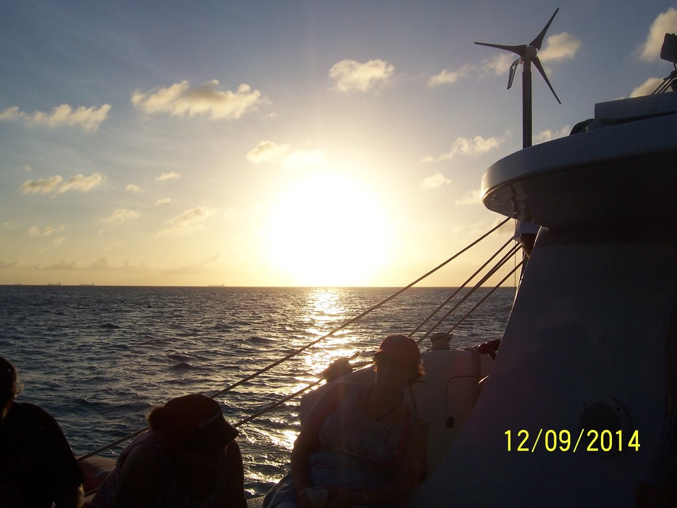 Sunset sail off coast of Aruba
