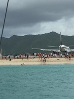Looks like the plane landed on the beach in Saint Maarten