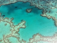Great Barrier Reef from helicopter