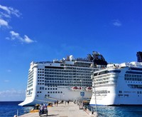 Leaving the Epic at Cozumel