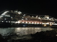 Willemstad, Curacao -- Night view from shore