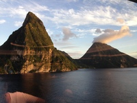 Sailing past the Pitons