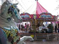 The wooden horse and carousel on the Boardwalk aboard the Oasis of the Seas