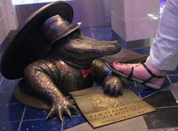Keeping the Sewer Gator at bay aboard the Oasis of the Seas.