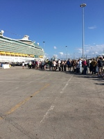 This is the photo of the boarding line.  If you look close the line wraps x