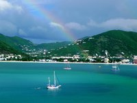 Beautiful rainbow in st. Thomas