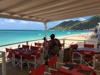 Rainbow Restaurant in Grand Case. Gorgeous beach. If you eat lunch there, t