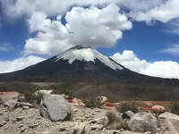 Volcano in Putre Chile.  90 miles from Arica Chile, near Bolivian border