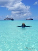 Crystal clear waters of Half Moon Cay