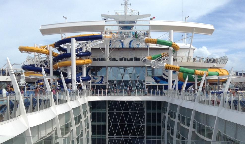 The Perfect Storm trio of water slides on Royal Caribbean