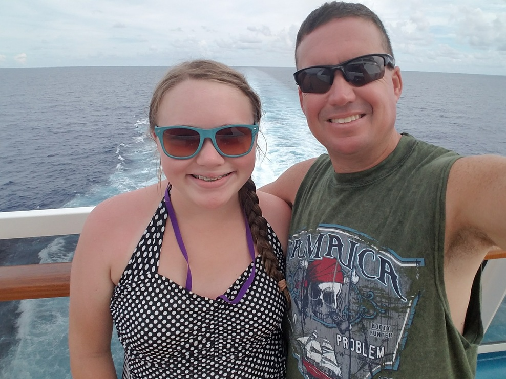 Daddy/daughter fun time on the Carnival Breeze.