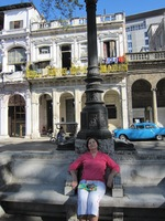 A stroll along the Paseo de Prada in Havana comes with handy built-in stone benches along the way.
