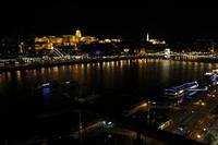 View Budapest/Danube at night
