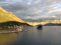 sailing up a fjord in Montenegro