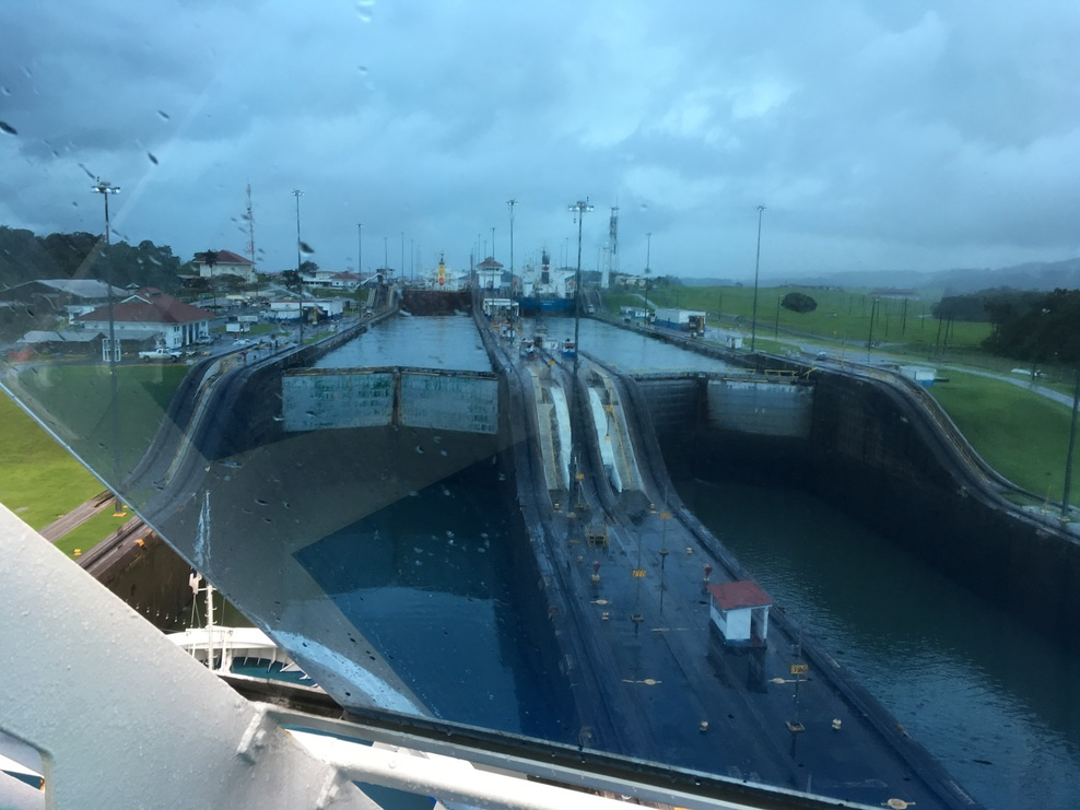 Our ship waiting to enter lock # 2