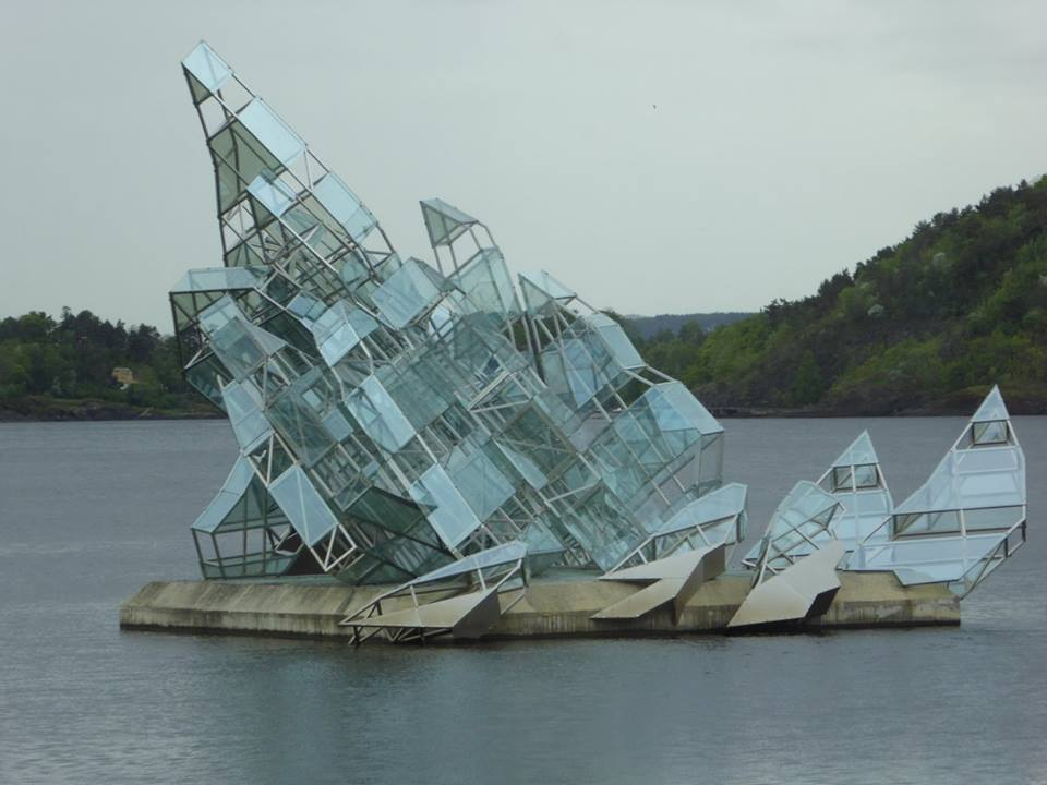 Sculpture outside of the Oslo Opera House
