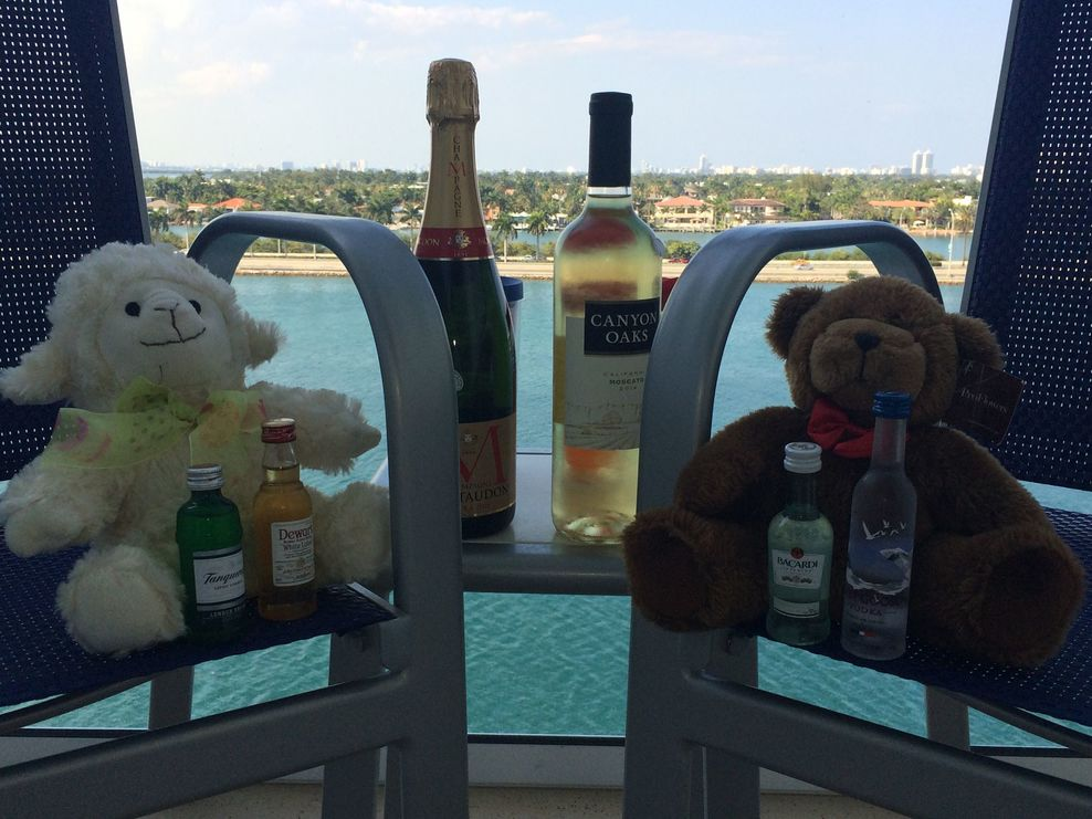 Bear party on the balcony!