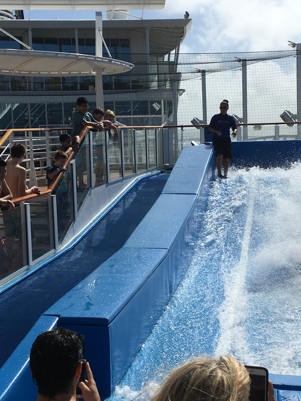 The flowrider onboard, deck 16,