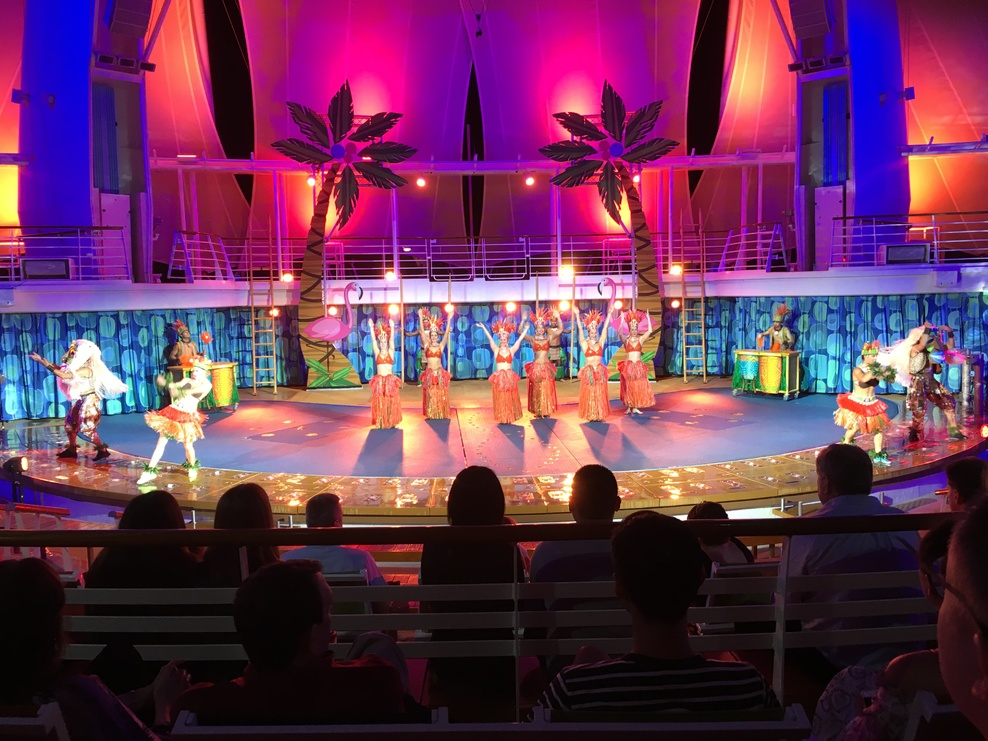 A show at the aquatheater.