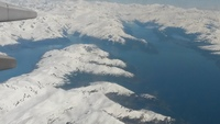 Flying into Anchorage, Alaska