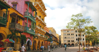 Colorful filled with history old Cartagena