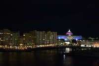 Leaving San Juan at night...