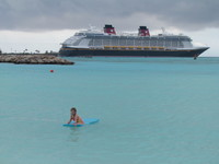 A cool day at Castaway Cay means you get the beach to yourself!
