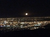 Cape Town by night with supermoom