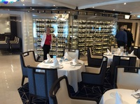 Restaurant with wine racks