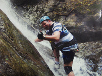 Waterfall climb, Costa Rica
