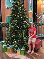 There were plenty of Christmas Trees onboard.  This one in the Atrium was s
