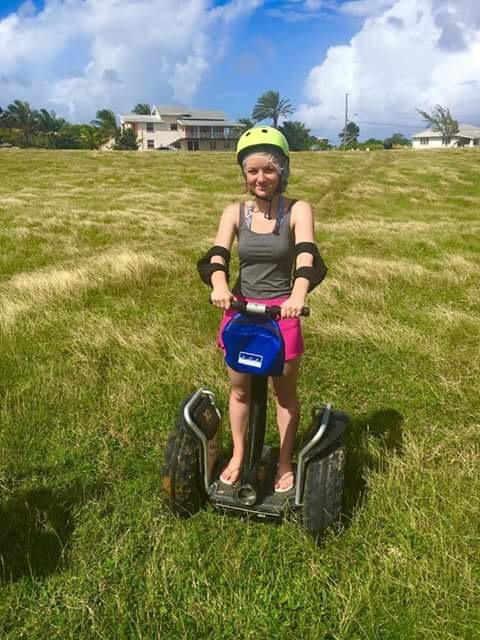 """Barbados was one of my favourite places on this cruise. The segway trip was rather good, however there were some bits rather disapointing. For example, in their description, it said """"a short ride to the segway area""""...the ride was 45mins from the port. However, we spent a decent amount of time on the segways. You are equiped with a hair net, a helmet and elbow pads and obviously a segway. You also have a little bag at the front of the segway to put your phone or whatever inside it. They help you get on it whether it"""