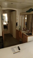 View of our room from the bed. Cabin #3600