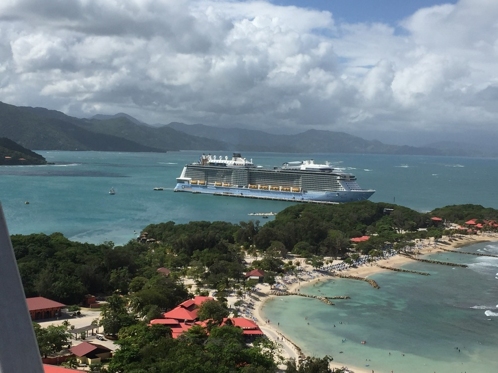 View from the Top of the Zip Line in Labadee, Haiti
