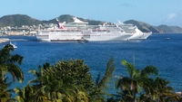 Carnival Fascination from Serendipity Restaurant, St. Kitts