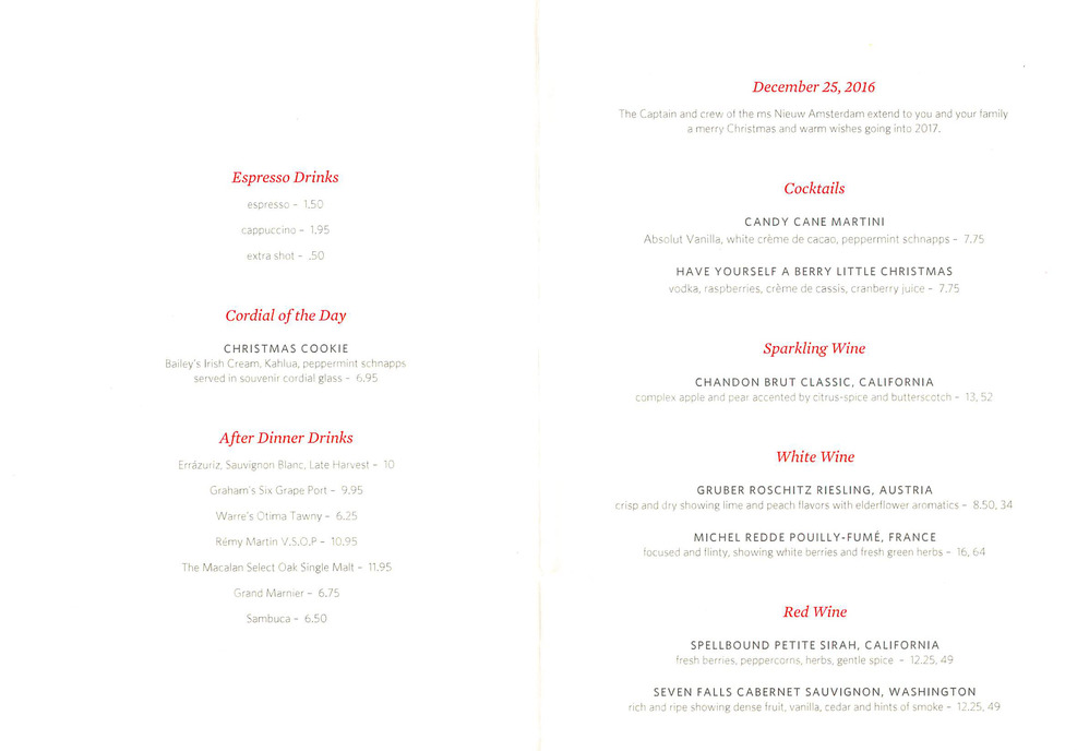 Christmas cruise with family nieuw amsterdam review cruise critic christmas day menu drinks publicscrutiny Image collections