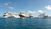 Port of Nassau, 5 cruise Ships docked