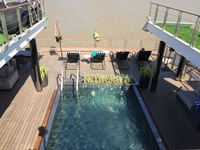 Pool taken from top deck looking aft
