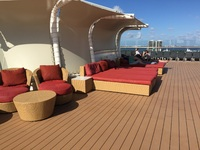 Solstice deck - the most peaceful open deck