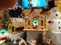 Display of Ginger bread houses on the ship.For a Christmas time...
