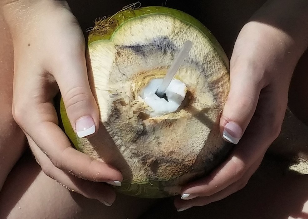 Fresh coconut water!