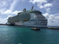 Our ship docked in Bonaire