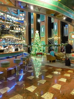 Atrium bar and Christmas tree