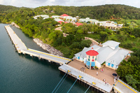 Mahogany Bay shops.